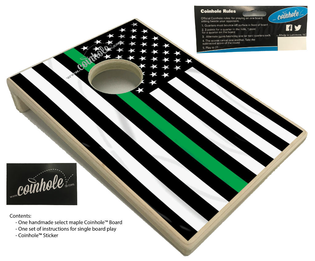 Thin Green Line Coinhole Board
