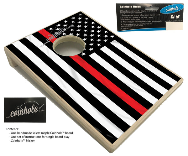 Thin Red Line Fireman Coinhole™ Board
