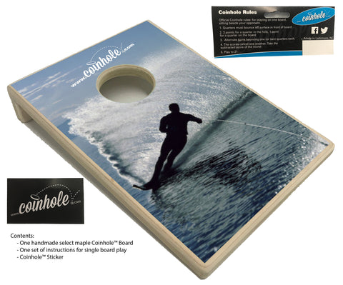 Water Skiing Coinhole™ Board