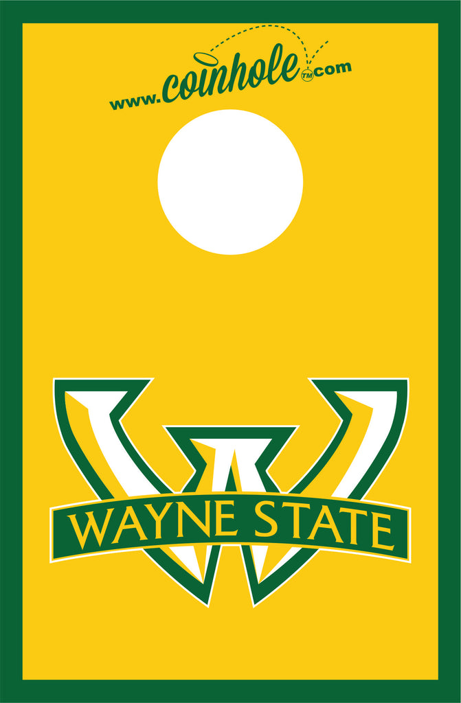 Wayne State University Coinhole™ Board Gold - Officially Licensed