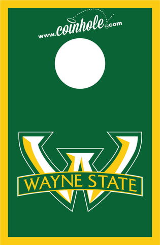 Wayne State University Coinhole™ Board Green - Officially Licensed