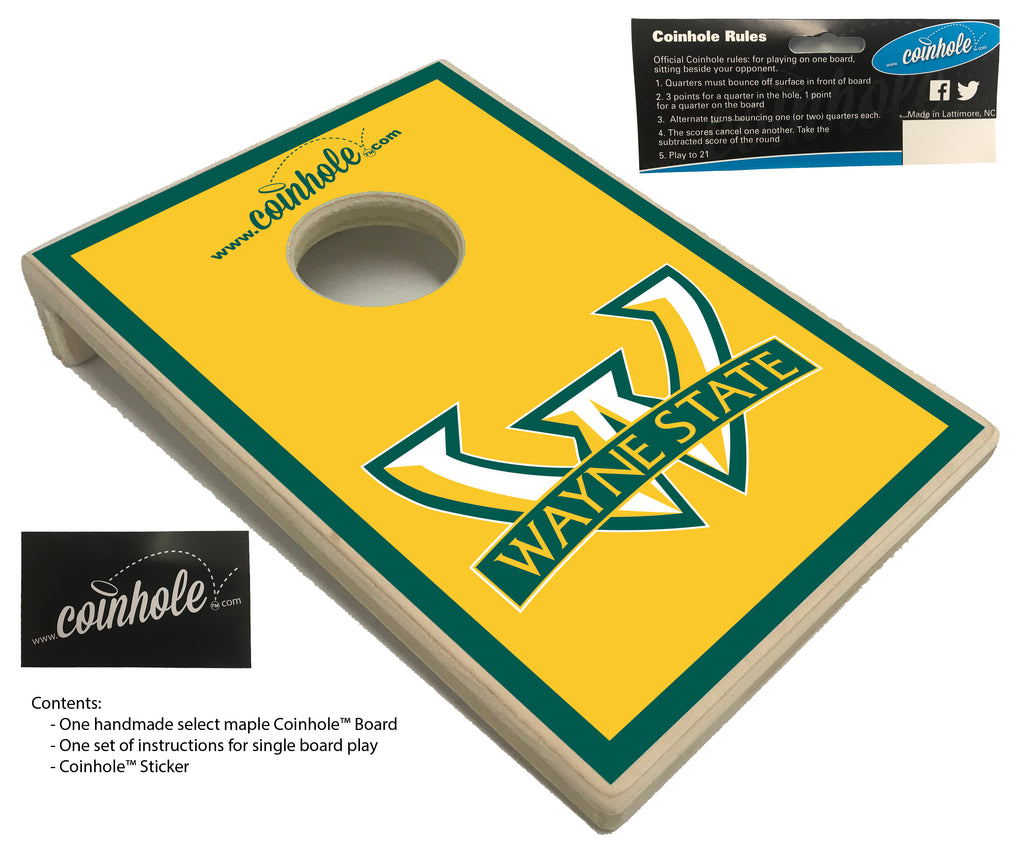 Wayne State University Yellow Coinhole™ Board