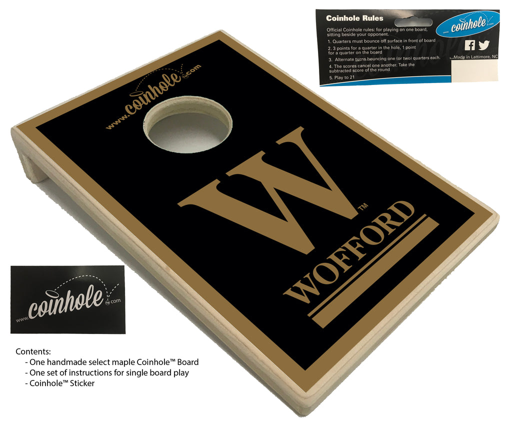 Wofford College Coinhole™ Board