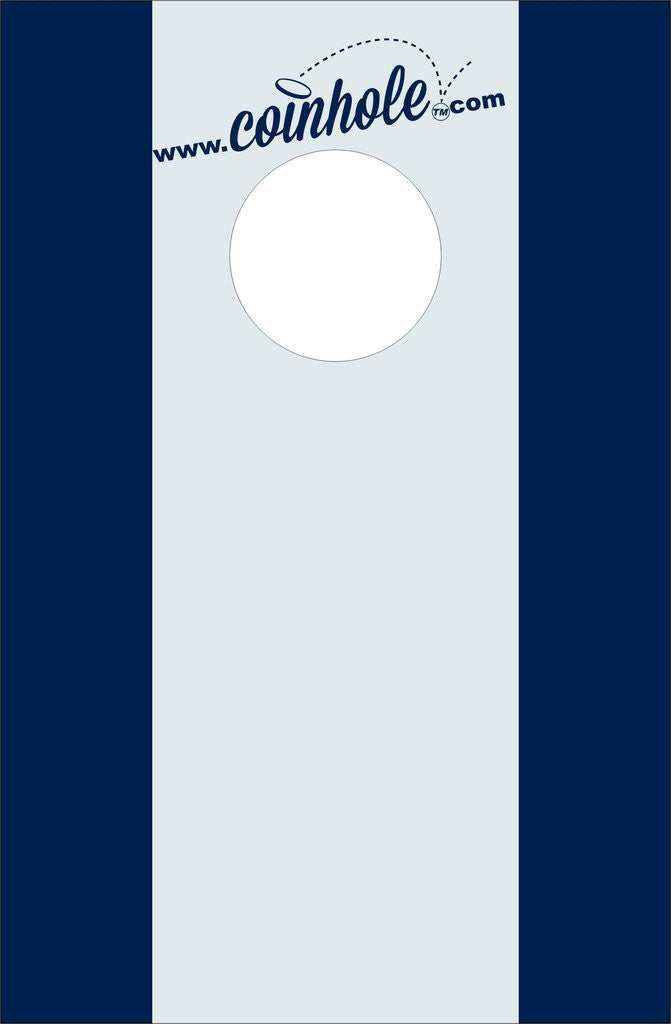 Blue And Grey Stripes Coinhole Game Board