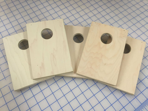 X-Out Box of 5 Unfinished Coinhole™ Boards