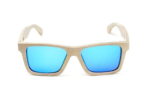 Swell Vision Classic Platinum Gray Bamboo Sunglasses with Blue Polarized Lenses