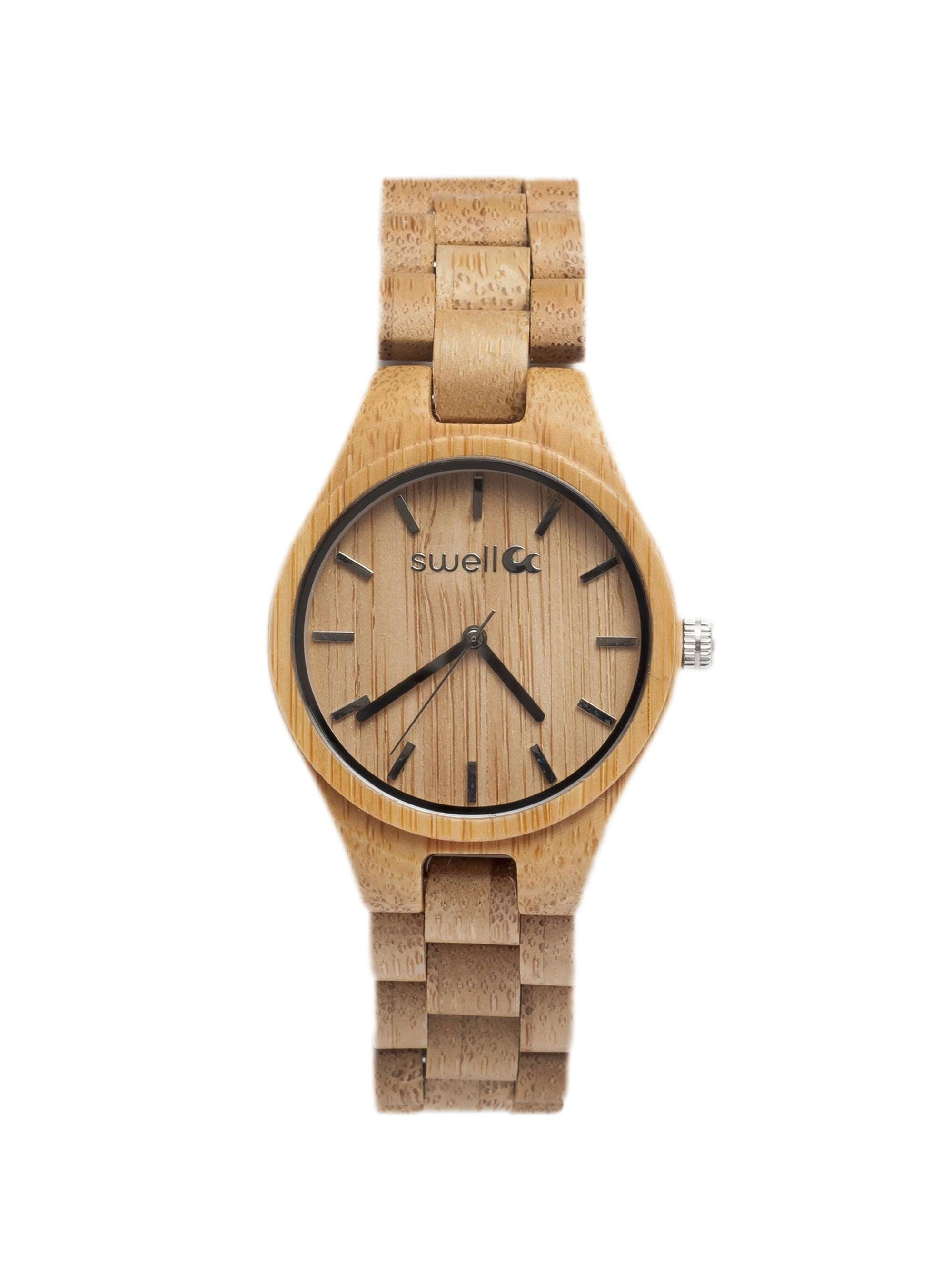 minimalist women watches for natural wooden bamboo and men