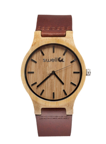 Swell Vision Big Time - 50mm All Natural Bamboo Watch