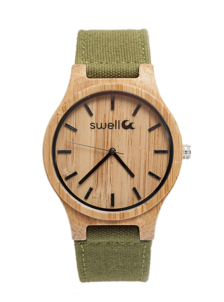 The Backpacker Forest Bamboo Watch - SwellVision