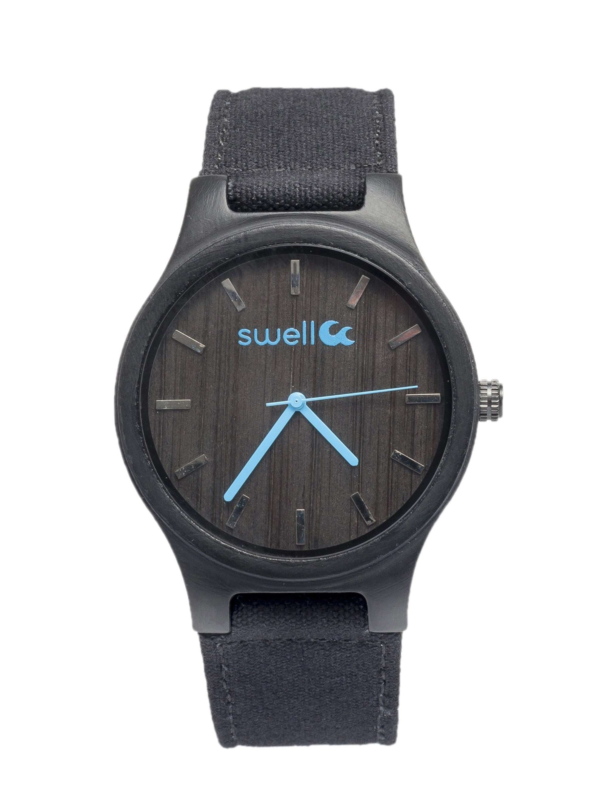 The Backpacker Obsidian Bamboo Watch - SwellVision