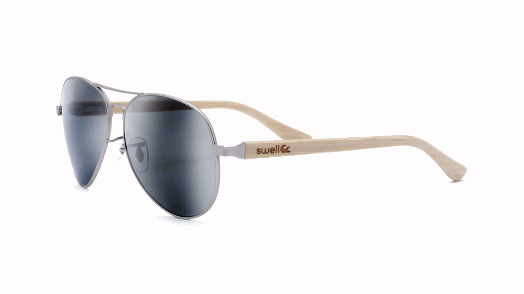 Avalon 2.0 CR39 Polarized Lens Bamboo Sunglasses - SwellVision