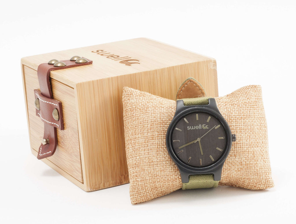 The Backpacker Hiker Bamboo Watch - SwellVision