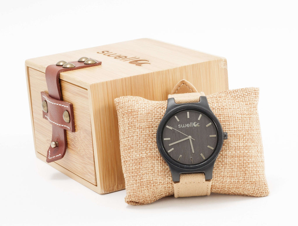 The Backpacker Tundra Bamboo Watch - SwellVision