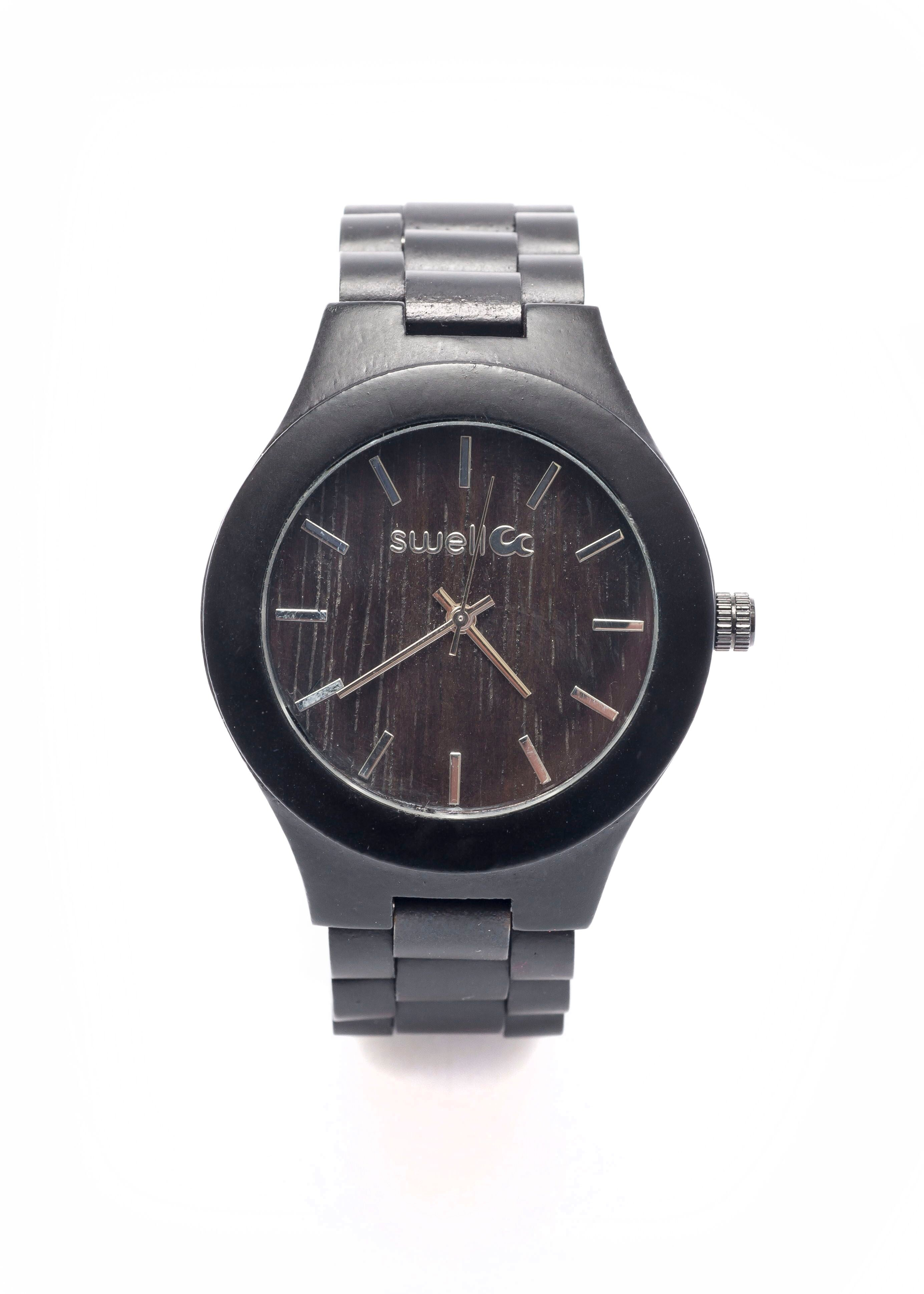 The Classic Onyx Bamboo Watch - 42mm