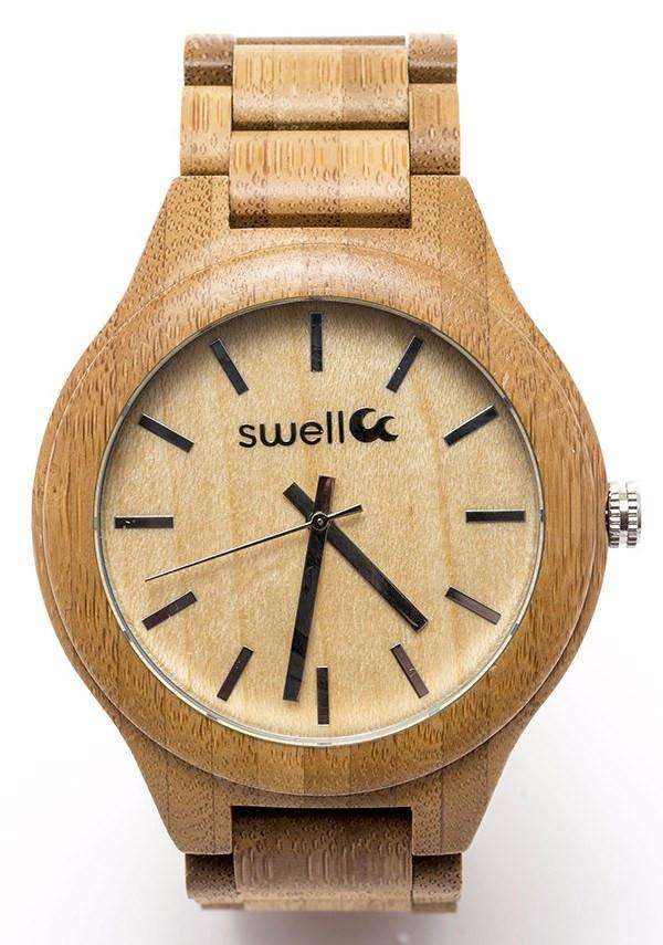 Swell Vision Big Time - 50mm All Natural Bamboo Watch - SwellVision