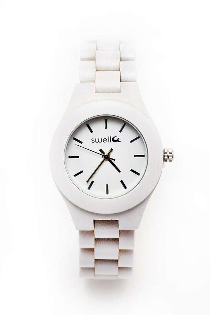 The Natural Beauty Pearl - 35mm Women's All Natural Bamboo Watch - SwellVision
