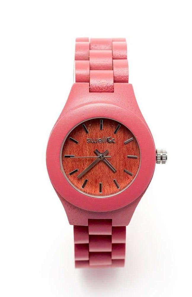 The Natural Beauty Pink - 35mm Women's All Natural Bamboo Watch
