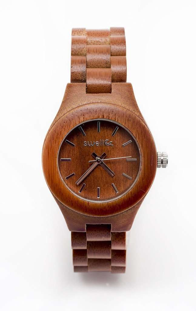 The Natural Beauty Forest - 35mm Women's All Natural Bamboo Watch - SwellVision