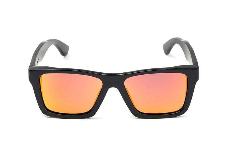 Swell Vision Classic Black Bamboo Sunglasses with Fire Polarized Lenses - SwellVision