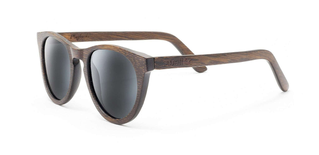 Alani Brown Polarized Bamboo Sunglasses - SwellVision