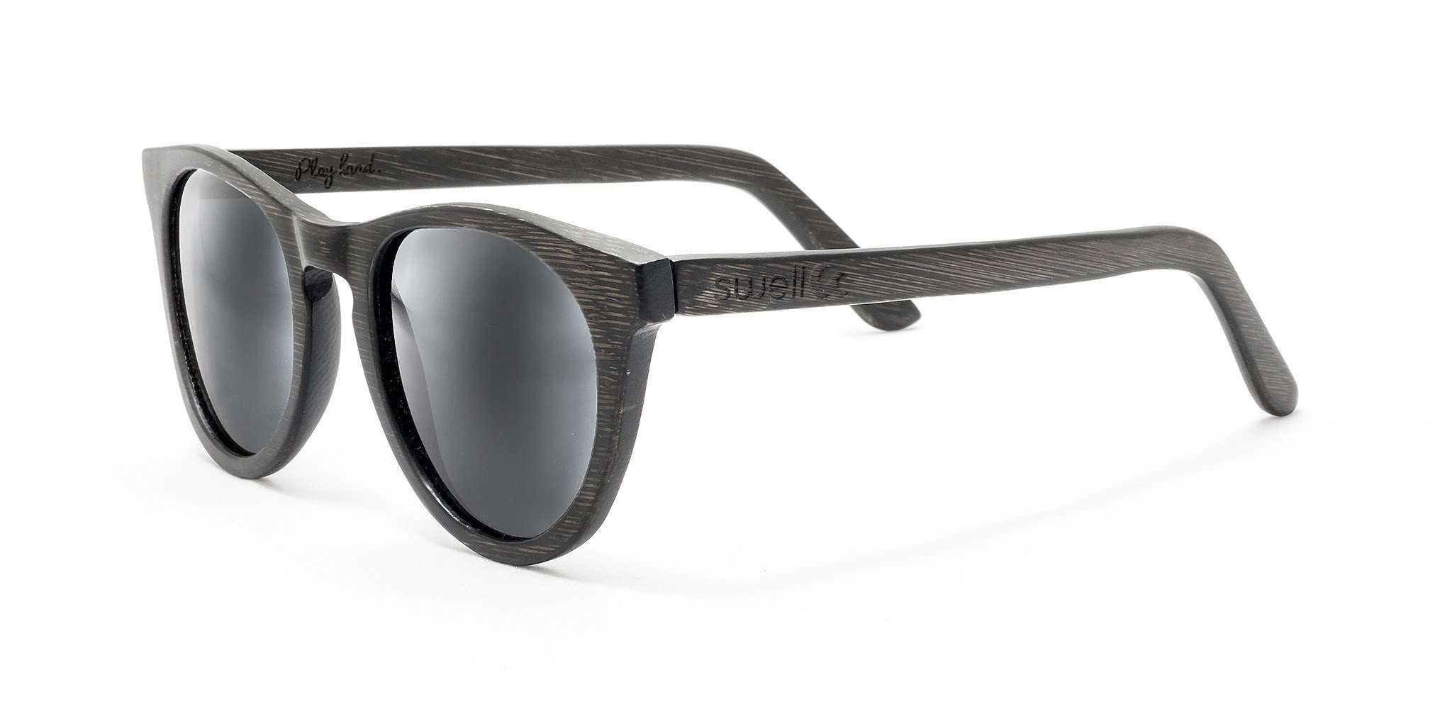 Alani Black Polarized Bamboo Sunglasses - SwellVision