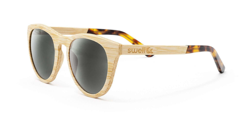 Alani 2.0 CR39 Polarized Lens Bamboo Sunglasses - SwellVision
