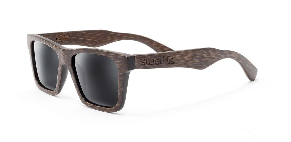 Classic Brown Polarized Bamboo Sunglasses - SwellVision