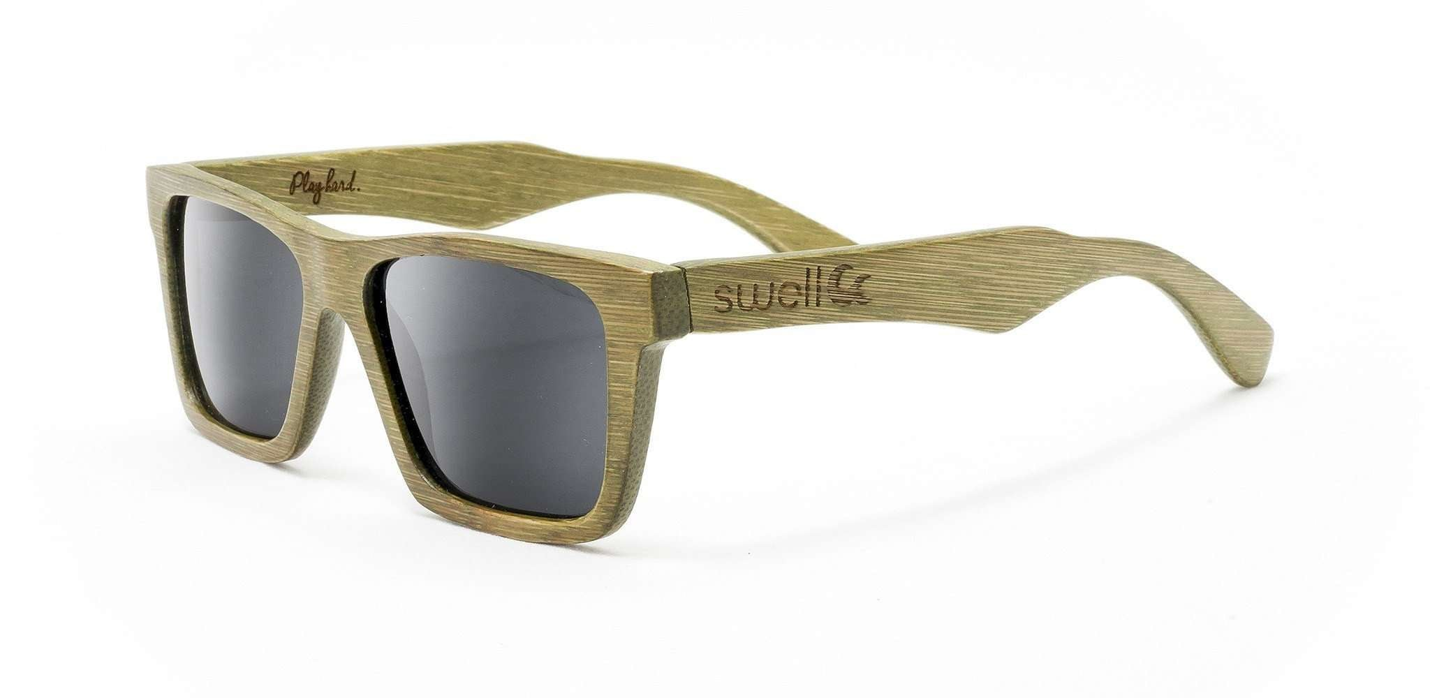 7f50c7825e3 Classic Green Polarized Bamboo Sunglasses - SwellVision. Classic Green  Polarized Bamboo Sunglasses - SwellVision