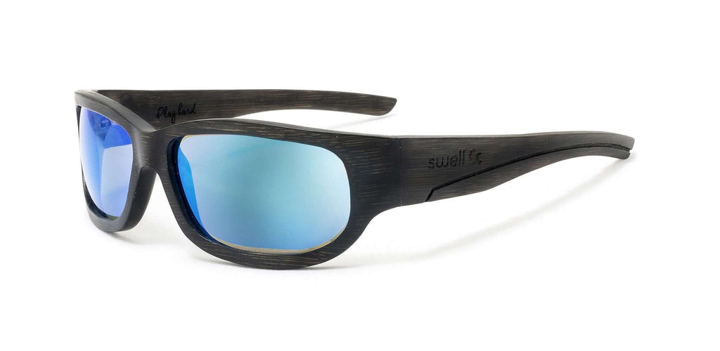 Sportsman Black Polarized Bamboo Sunglasses - SwellVision