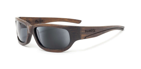 Sportsman Brown Polarized Bamboo Sunglasses - SwellVision