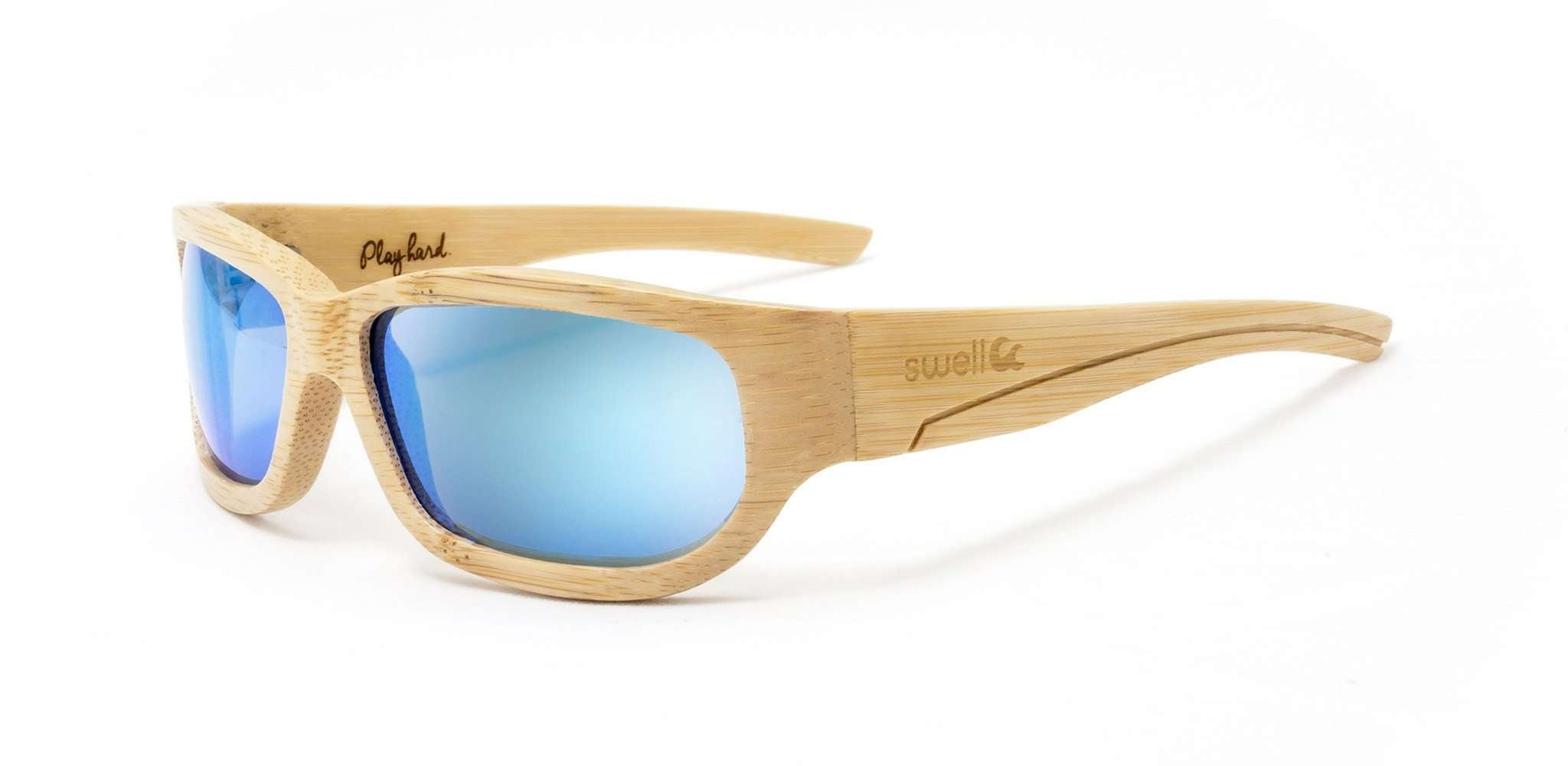 8af58bc917 Sportsman Natural Polarized Bamboo Sunglasses - SwellVision. Sportsman  Natural Polarized Bamboo Sunglasses - SwellVision