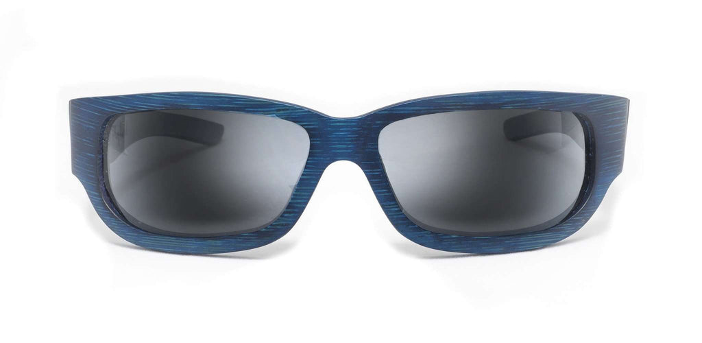 Sportsman Blue Polarized Bamboo Sunglasses - SwellVision