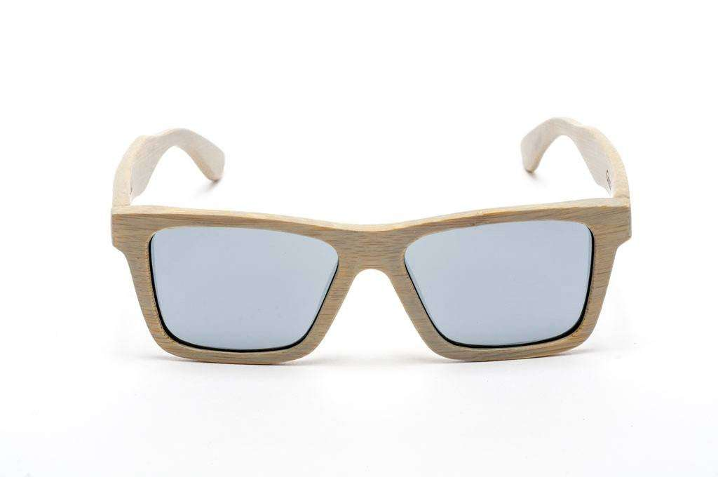 Swell Vision Classic Platinum Bamboo Sunglasses with Silver Polarized Lenses - SwellVision