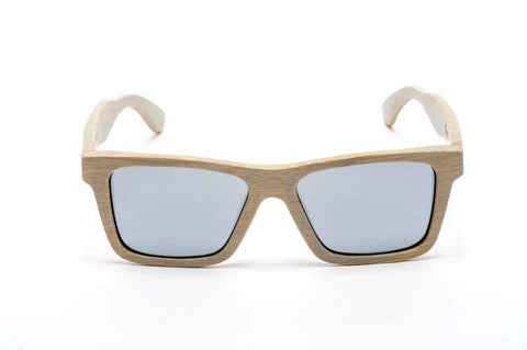 Swell Vision Classic Platinum Bamboo Sunglasses with Silver Polarized Lenses
