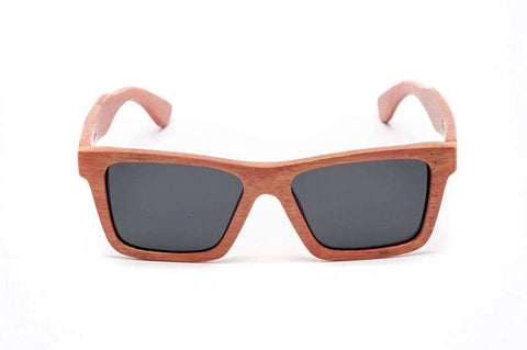 Swell Vision Classic Pink Bamboo Sunglasses with Smoke Polarized Lenses