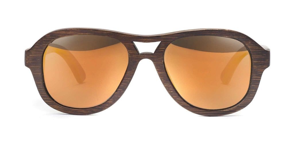 Avalon Brown Polarized Bamboo Sunglasses - SwellVision
