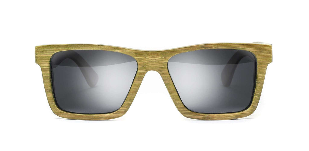 Classic Green Polarized Bamboo Sunglasses - SwellVision