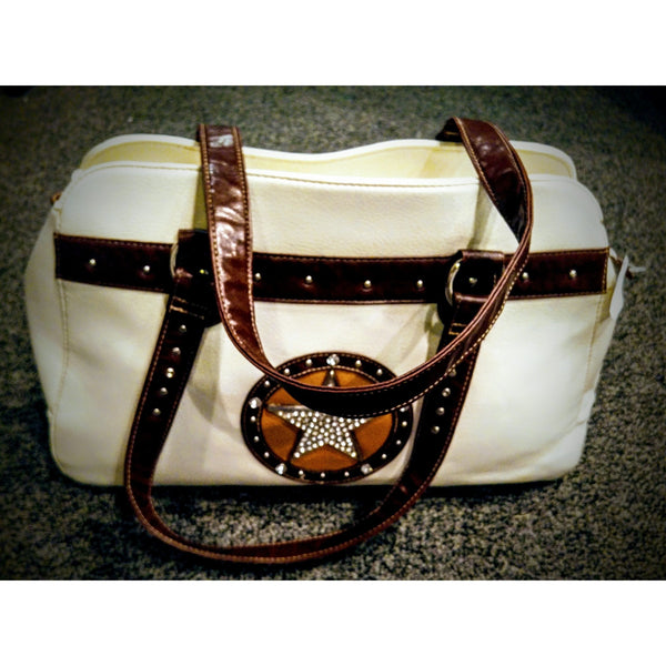 Unique white handbag -.