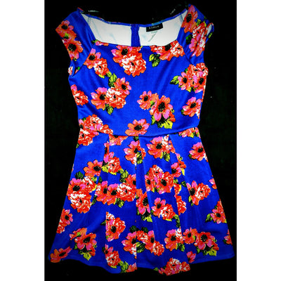 B Darlin dress - bold colors  size 13/14 -.