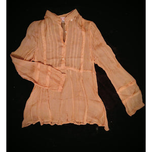 Kelassy silk top - light and airy - size  medium and a small -.