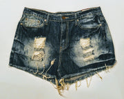 YMI distressed jean shorts size 13