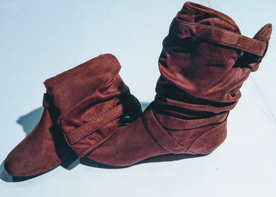 DIBA brown cloth boots - so soft