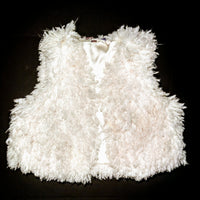 Chelsea and Violet  beautiful white  fluffy vest size -  lg (b)
