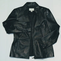 Worthington front zip leather jacket
