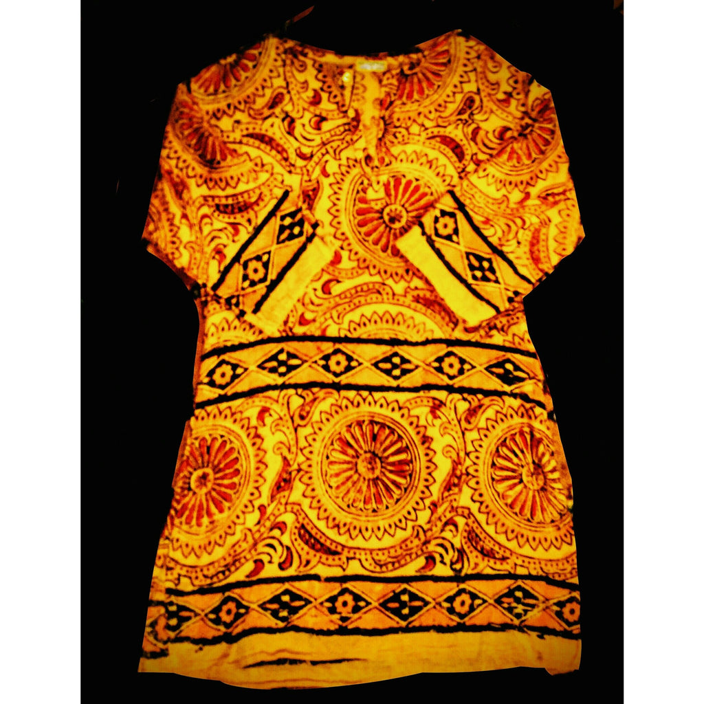 Made in India -  100% cotton hippie top   size small -.