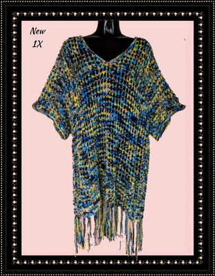 A Miles fringed knit wrap - beautiful! (p*)