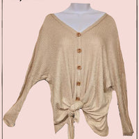 Entro waffle pattern tie top - multiple sizes and colors- so cute!**