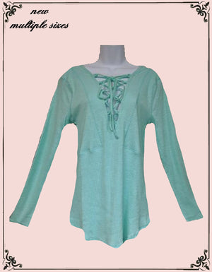 Umgee seafoam green top - multiple sizes**