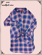 Chelsea and violet plaid shirt 100 percent cotton super soft (b)