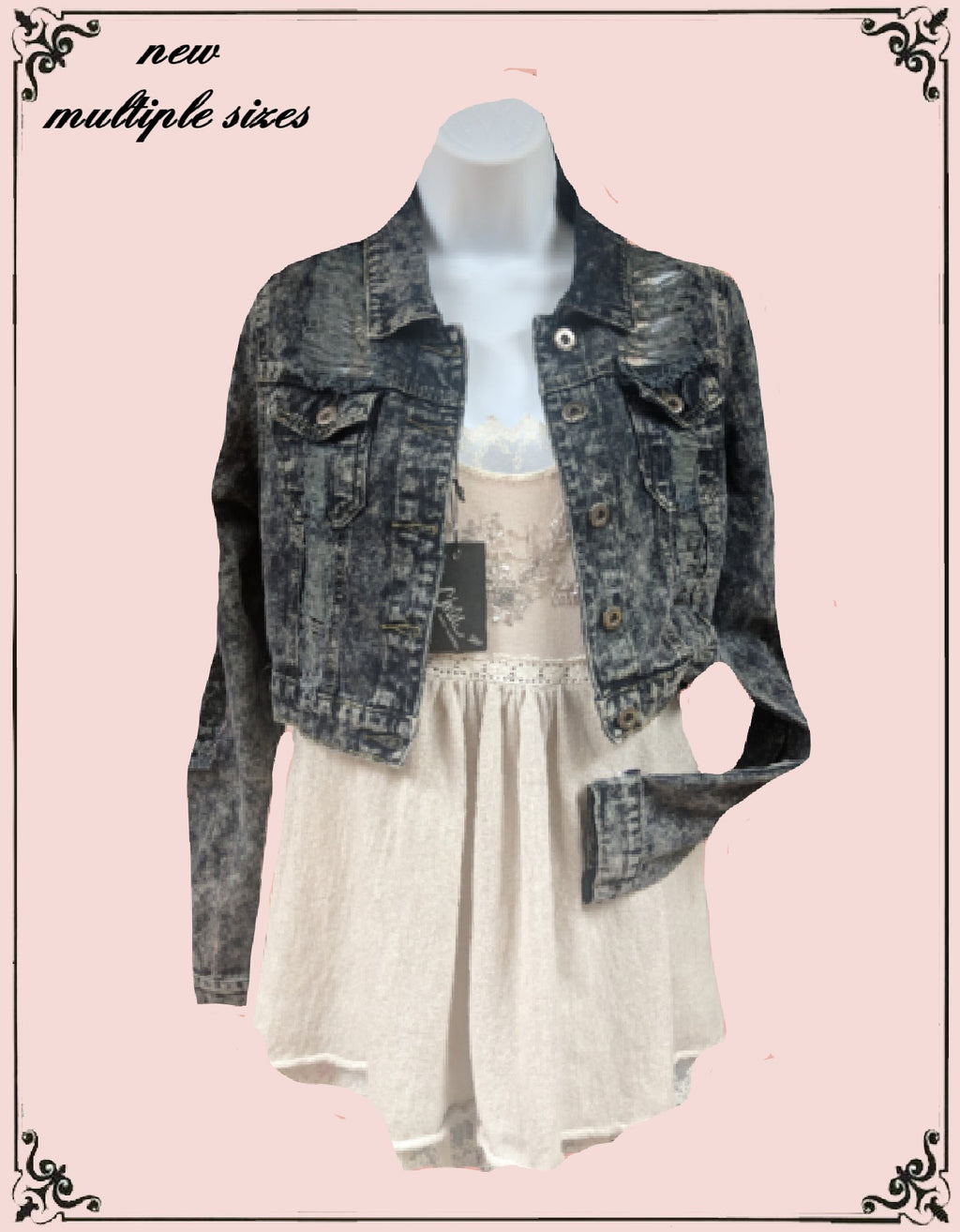 Chiole jean jacket  too cute  - size medium-.